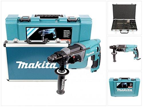 Makita HR2470 Bohrmaschine mit Bohrer und Meißelset, 780 W