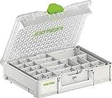 Festool 204853 SYS 3 M 89 Systainer Organizer mit 22 Einsatzboxen, 396mm x 296mm x 89mm